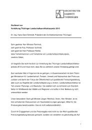Grußwort zur Verleihung Thüringer Landschaftsarchitekturpreis ...