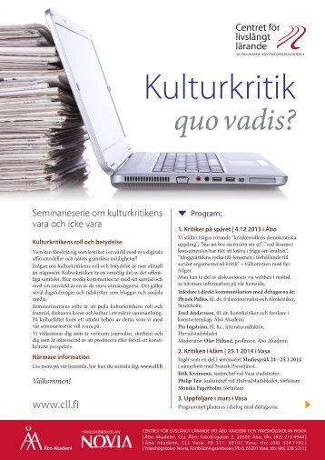 Kulturkritik - Åbo Akademi