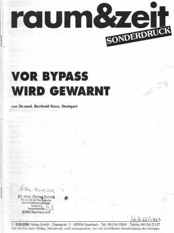 Vor Bypass wird gewarnt - Strophantus.de