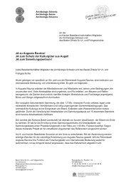 JA zu Augusta Raurica! JA zum Schutz der Kulturgüter aus Augst! JA ...