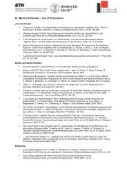 Publikationen - Collegium Helveticum