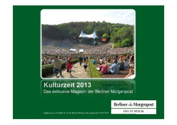 Download Mediadaten Kulturzeit 2013 - Axel Springer MediaPilot