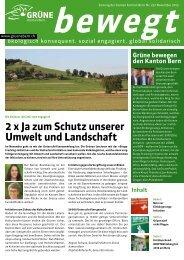 bewegt Nr. 29, November 2013 (PDF) - Grüne Kanton Bern