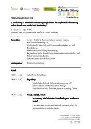 Brigitte Faber-Schmidt, Kulturland Brandenburg e.V. Ulrike Erdmann ...