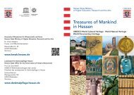 Treasures of Mankind in Hessen - Hessisches Ministerium für ...