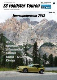 Tour - Z3 roadster Club Deutschland eV