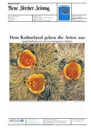 Dem Kulturland gehen die Arten aus - Bioaktuell.ch
