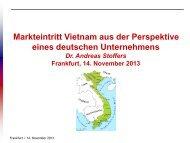 Markteintritt Vietnam aus der Perspektive eines deutschen ... - GIZ