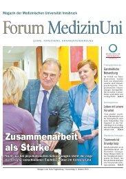 Forum Medizin 03.10.2013 - Medizinische Universität Innsbruck