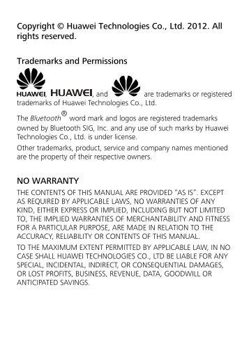 Copyright © Huawei Technologies Co., Ltd. 2012. All rights ... - ILEX