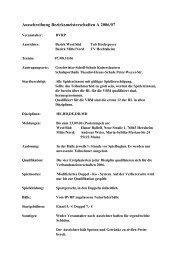 Ausschreibung Bezirksmeisterschaften A 2006/07