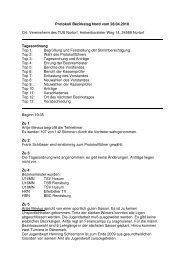 Protokoll Bezirkstag Nord vom 28.04.2010 Ort: Vereinsheim des ...