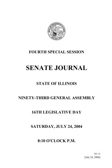 SENATE JOURNAL - Illinois General Assembly