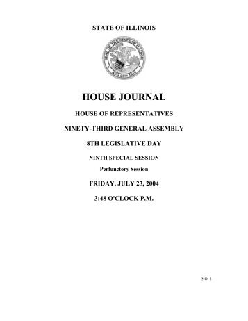 HOUSE JOURNAL - Illinois General Assembly