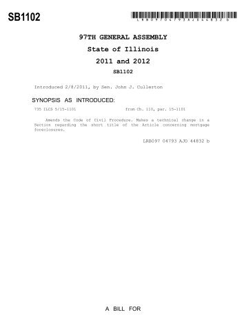 S.B. 1102 - Illinois General Assembly