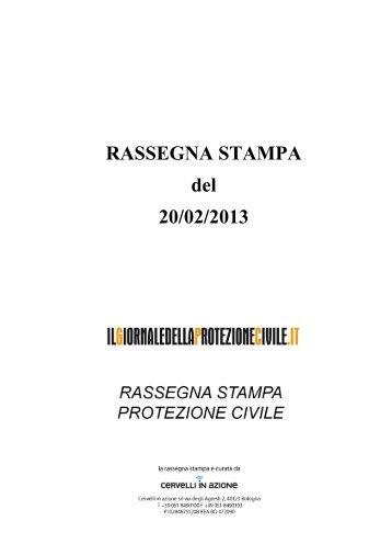 RASSEGNA STAMPA del 20/02/2013 - Il Giornale della Protezione ...