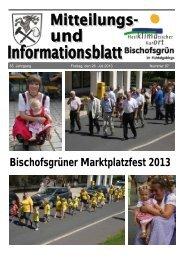 Bischofsgrüner Marktplatzfest 2013