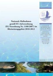 Nationale Maßnahmen gemäß EU-Aalverordnung (EG ... - IKSR
