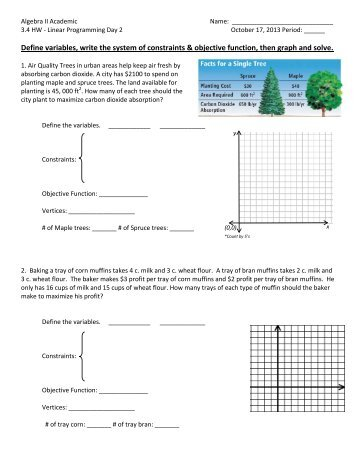 3 4 HW Day 2 - Linear Programing - Word Problems