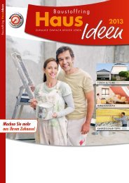 Haus-Ideen 2013 - bei Baustoffe MEIER