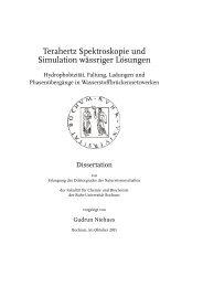 Terahertz Spektroskopie und Simulation wässriger Lösungen - Ruhr ...