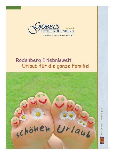 Rodenberg Erlebniswelt Urlaub Fur Die Ganze Familie Gobel Hotels