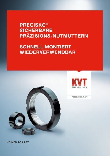 PRECISKO® Sicherbare Präzisions-Nutmuttern | KVT-Fastening