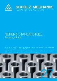 NORM- & STANDARDTEILE - Scholz Mechanik GmbH