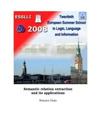 Semantic relation extraction and its applications - The Institute for ...