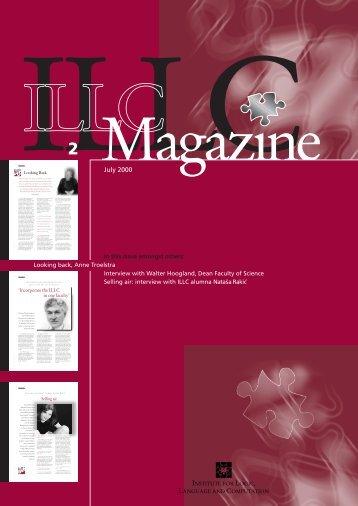 ILLC Magazine nr.2* - The Institute for Logic, Language and ...