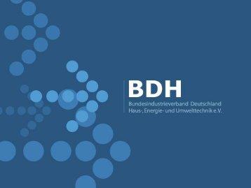 Solarthermie zur Warmwasserbereitung und ... - BDH