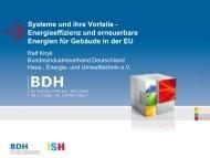Systeme und ihre Vorteile - Energieeffizienz und ... - ISH 2013 - BDH