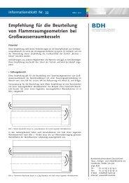 Empfehlung für die Beurteilung von Flammraumgeometrien ... - BDH