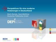 Perspektiven für eine moderne Holzenergie in Deutschland - BDH