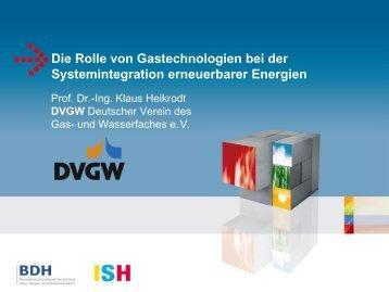 Die Rolle von Gastechnologien bei der Systemintegration ... - BDH