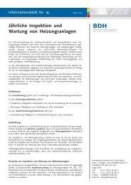 Jährliche Inspektion und Wartung von Heizungsanlagen - BDH