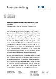 Pressemitteilung - BDH