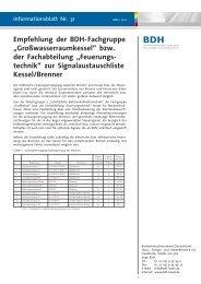 """Empfehlung der BDH-Fachgruppe """"Großwasserraumkessel"""" bzw ..."""