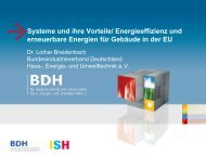 Energieeffizienz und erneuerbare Energien für Gebäude in ... - BDH