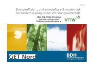 Energieeffizienz und erneuerbare Energien bei der ... - BDH