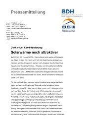 Pressemitteilung - Dank neuer Kombiförderung - BDH