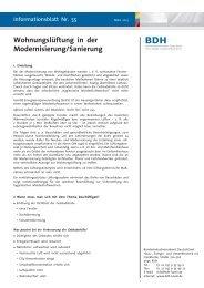 Wohnungslüftung in der Modernisierung/Sanierung - BDH
