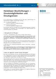 Heizkörper-Beschichtungen – Einsatzmöglichkeiten und ... - BDH