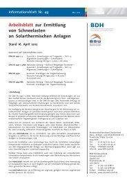 Ermittlung von Schneelasten an Solarthermischen Anlagen - BDH