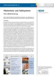 Flächenheiz- und -kühlsysteme, Teil 2: Modernisierung - BDH