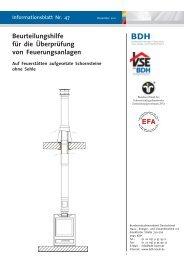 Beurteilungshilfe für die Überprüfung von Feuerungsanlagen - BDH