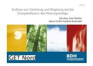 Einfluss von Verteilung und Regelung auf die ... - BDH