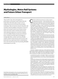 Mythologies, Metro rail Systems and Future Urban transport - India ...