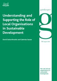 Understanding and Supporting the Role of Local Organisations in ...