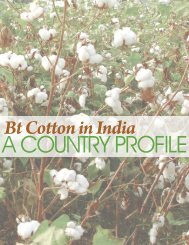 A COUNTRY PROFILE Bt Co˜on In India - India Environment Portal